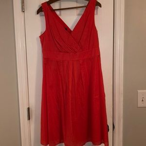 Lands End coral colored sleeveless dress